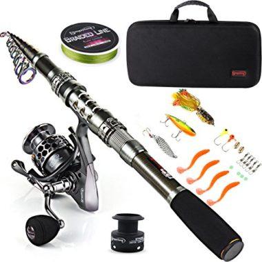 Sougayilang Telescopic Travel Fishing Rod