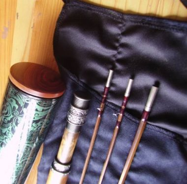 Tiger Special Design Deluxe Wooden Handle Bamboo Fly Rod
