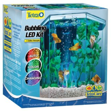 Tetra Hexagon 1-Gallon Bubbler Fish Tank