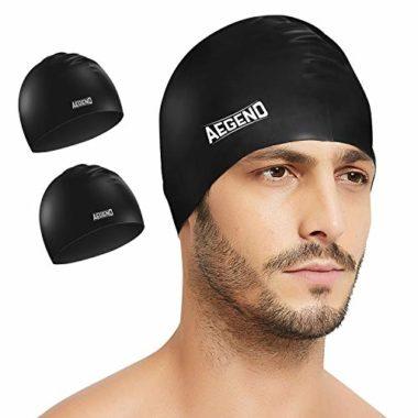 Aegend Durable 2 Pack Swim Caps