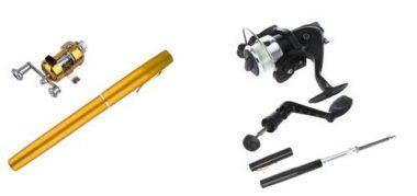 Docooler Retractable Mini Pen Fishing Rod