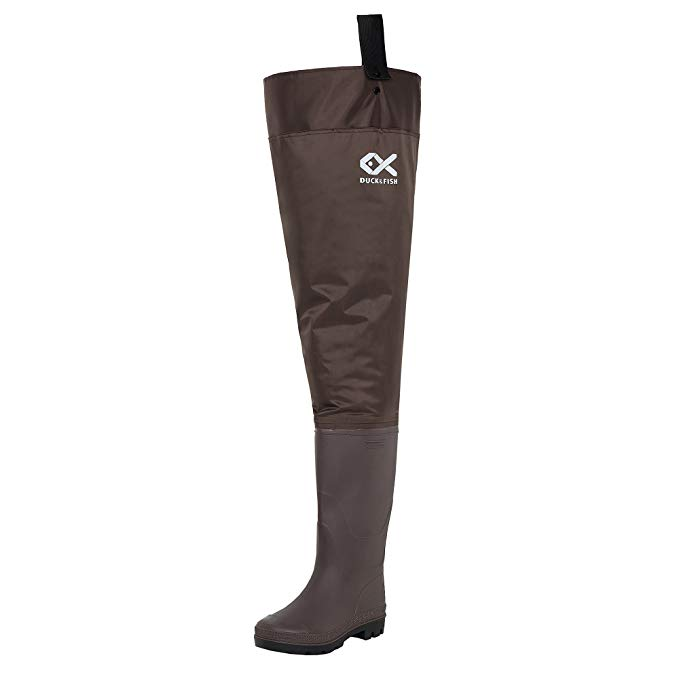 Duck and Fish Brown Fishing Hip Waders