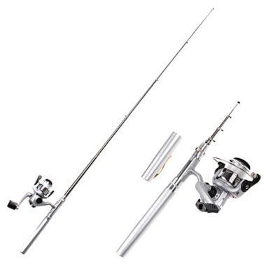 HDE Pocket Sized Spinning Pen Fishing Rod