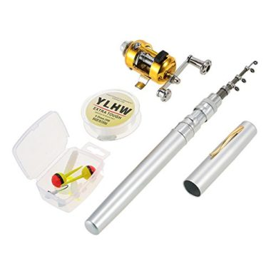 Lixada Telescopic Pocket Pen Fishing Rod