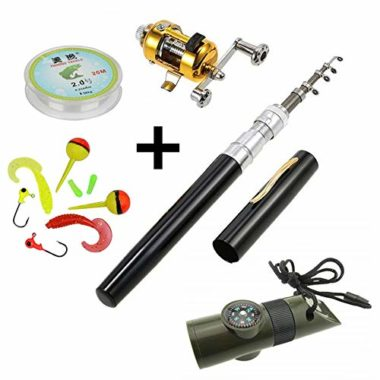 HappyOutdoor Mini Travel Pen Fishing Rod