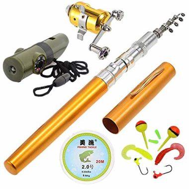 Jatzde Portable Mini Pen Fishing Rod