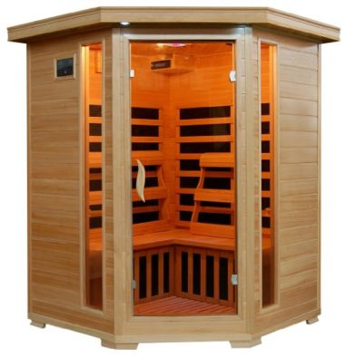 Radiant Saunas Corner 3 Person Infrared Sauna