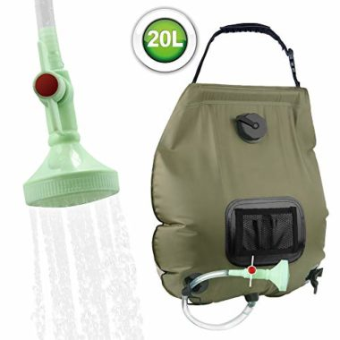 KIPIDA Removable Hose Camping Solar Shower