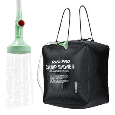 RISEPRO 10 Gallon Camping Solar Shower