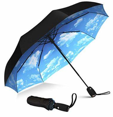Reversable Umbrella Cute Beagle Dog Lies On Floor Portable Compact Folding Umbrella Anti Uv Protection Windproof Outdoor Travel Women Mens Umbrellas