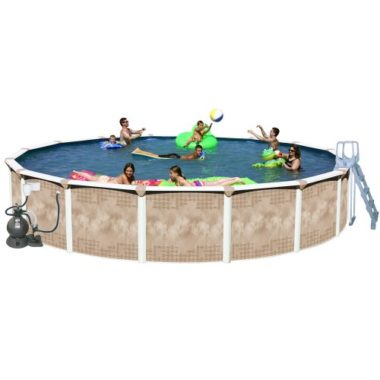 Splash Pools Round Deluxe Above Ground Pool