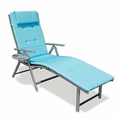 GOLDSUN Aluminum Outdoor Folding Pool Lounge Chair