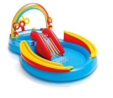 Intex Rainbow Ring Play Center Kids Inflatable Pool