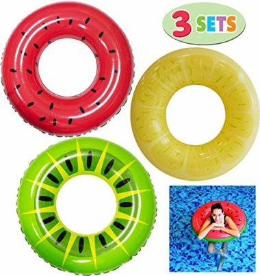 Joyin Inflatable Fruit Tube 32.5″ (3 Pack) Pool Floats