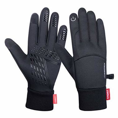 Anqier Warm Touchscreen Windproof Outdoor Winter Cycling Gloves
