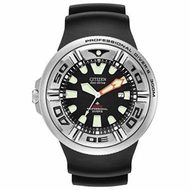 Citizen Men's Eco-Drive Professional Diver Black Sport Dive Watch