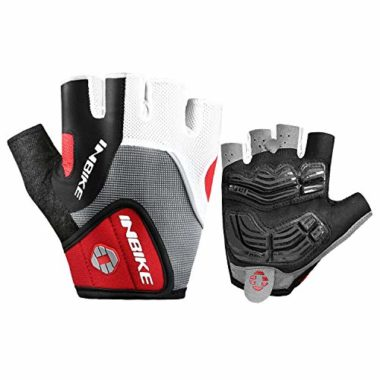 INBIKE Men's Gel Pad Shock-Absorbing MTB Gloves