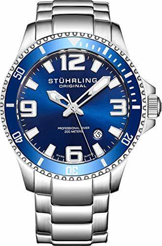 Stuhrling Original Aquadiver Regatta Analog Quartz Dive Watch