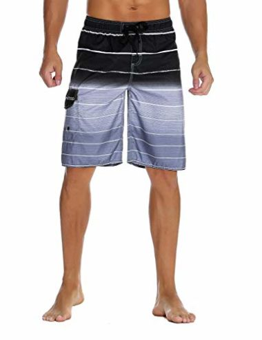 Unitop Colorful Striped Men's Swim Trunks