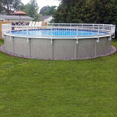 Vinyl Works White Economy Resin Above Ground Pool Fence