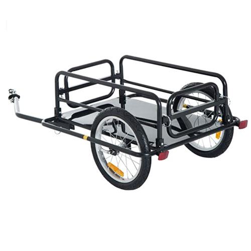 Aosom Foldable Cargo Bike Trailer