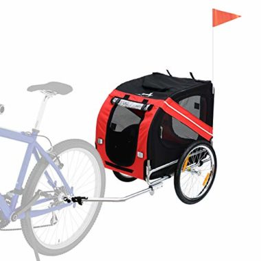 Aosom 3 Entrance Off-Road Dog Bike Trailer