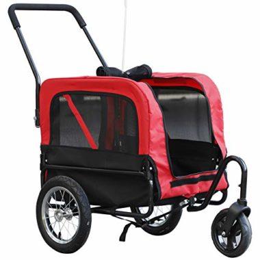 Aosom Elite Swivel Wheel Dog Bike Trailer