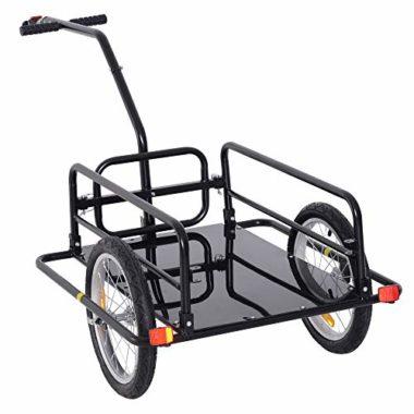 Aosom Folding Cart Cargo Bike Trailer