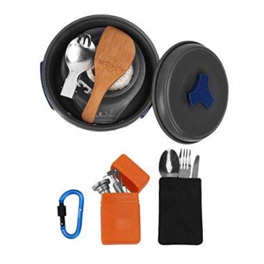 Bisgear 16 Pcs Camping Mess Kit