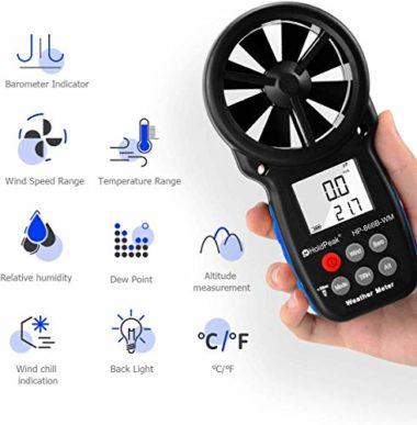 HOLDPEAK 866B-WM Handheld Multifunctional Anemometer