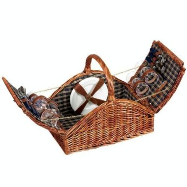 Household Essentials Woven Willow Picnic Basket