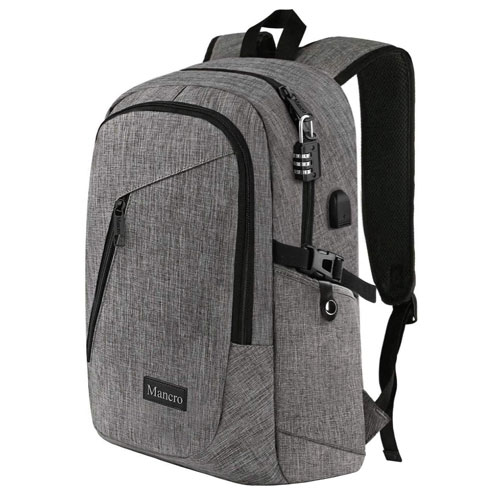 Mancro Waterproof Laptop Backpack