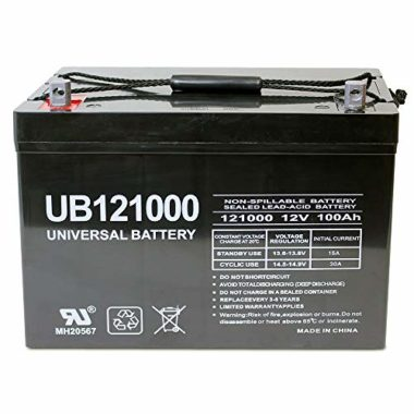 Universal Power Group UB121000 Deep Cycle AGM Marine Battery