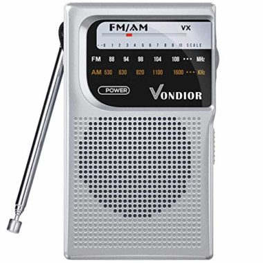 Vondior AM/FM Battery Operated Portable Emergency Radio