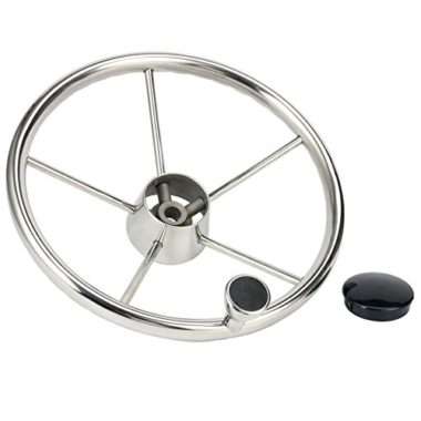 Amarine Made Destroyer Style Stainless Boat Steering Wheel