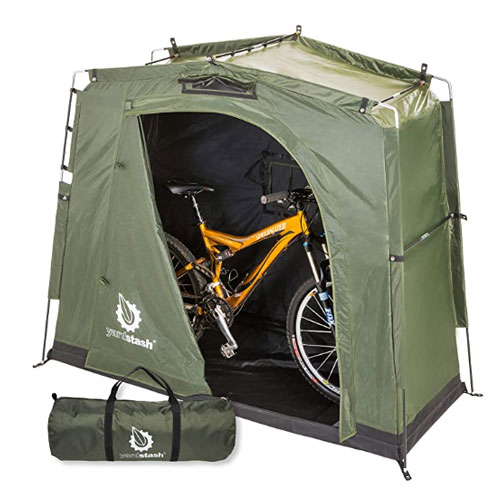 YardStash Space Saving Outdoor Bike Shed