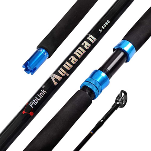 Fiblink Single Piece Saltwater Offshore Trolling Rod